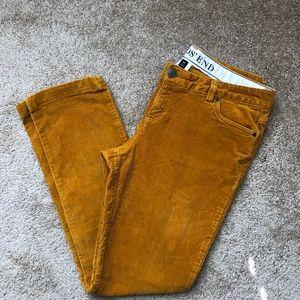 🍁Lands' End Mustard Yellow Corduroy Pant